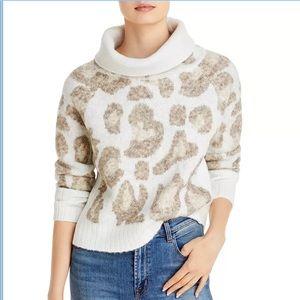 Aqua Camo Knit Sweater M